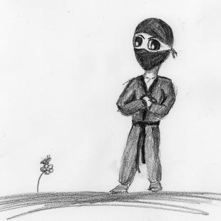 Bob the Ninja Contemplating