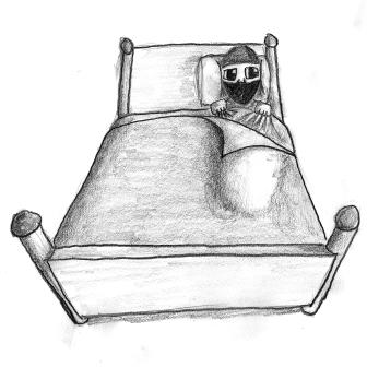Bob the Ninja in Bed