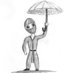 Bob the Ninja Umbrella