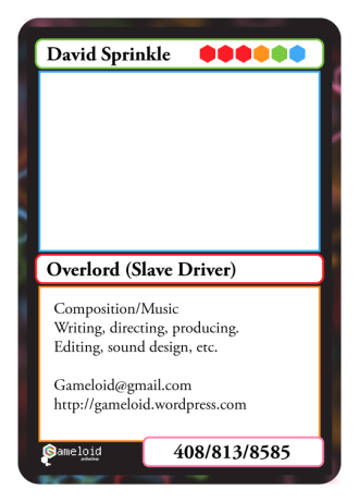 Prototype CCG Business Card (Back)